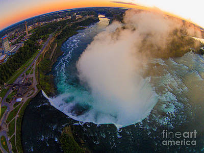 Photograph - Niagara Rainbow Falls Sunrise by Tony Cooper