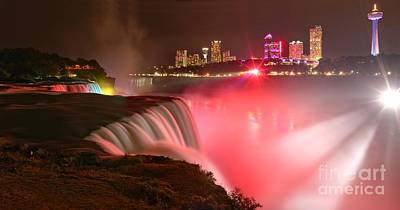 Photograph - Niagara Red And White Starbursts by Adam Jewell