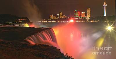 Photograph - Niagara Starbursts At Night by Adam Jewell