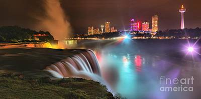 Photograph - Niagara Starbust Skyline Panorama by Adam Jewell