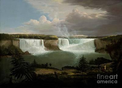 Niagra Falls By Alvan Fisher Art Print