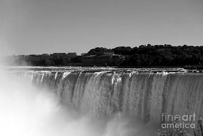 Photograph - Niagra Falls Canada Hydro In Black And White by Jennifer E Doll