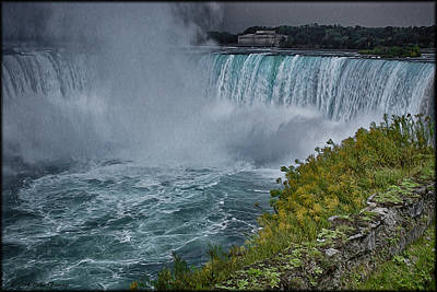 Photograph - Niagra Falls In Oil by Erika Fawcett