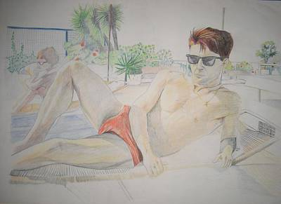 Drawing - Niall In Athens by Michelle Deyna-Hayward