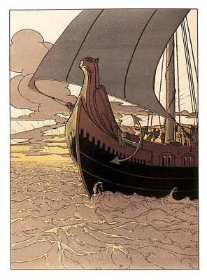 Nibelungenlied Song Of The Nibelungs Art Print by Everett