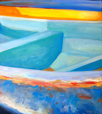 Painting - Nicaragua Fishing Boat by Sherry Harris  Erb