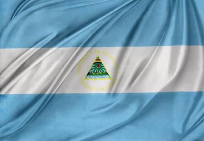 Nicaraguan Flag Art Print by Les Cunliffe