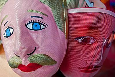 Nicaraguan Masks Art Print