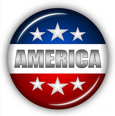 4th July Digital Art - Nice America Shield by Pamela Johnson