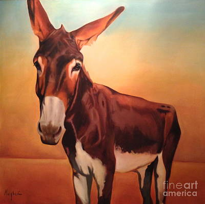 Jackass Painting - Nice Ass by Mary Leslie
