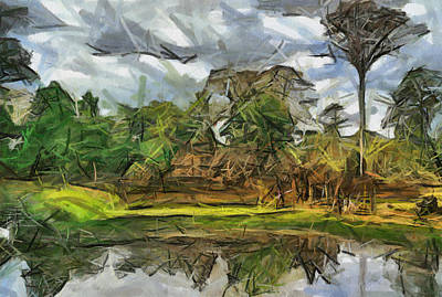 Painting - Nice Cambodia Temple by Teara Na