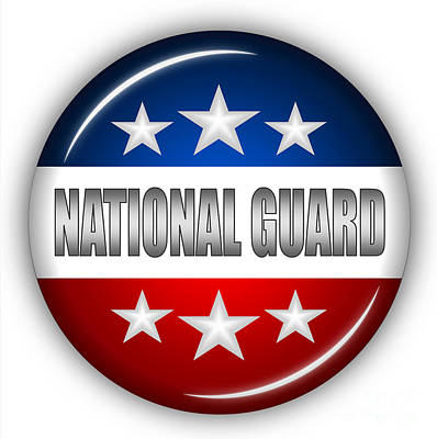 Usaf Mixed Media - Nice National Guard Shield by Pamela Johnson