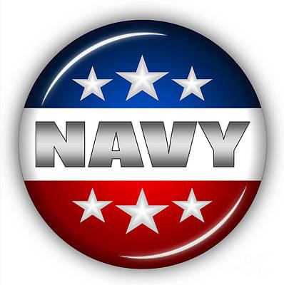 Usaf Mixed Media - Nice Navy Shield by Pamela Johnson