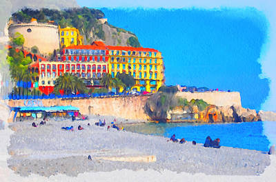Nice Riviera 1 Art Print
