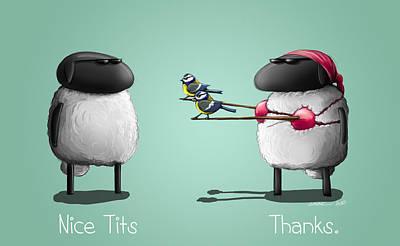 Nice Tits Art Print by Sasank Gopinathan