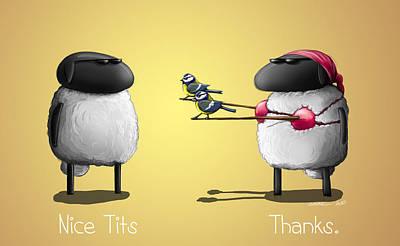 Nice Tits Yellow Version Art Print by Sasank Gopinathan