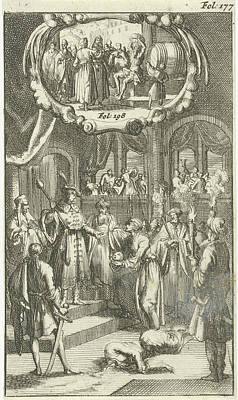 Nicephorus, Emperor Of The Greeks, Conquered Art Print by Jan Luyken And Johannes Boekholt