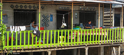 Photograph - Nicest Porch In Shanty Town by Allen Sheffield