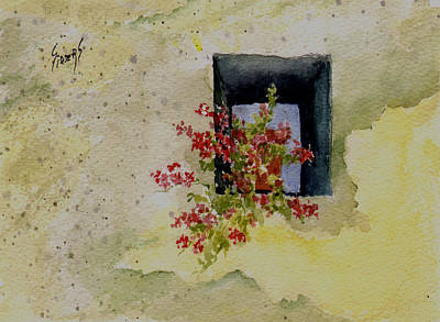 Painting - Niche With Flowers by Sam Sidders