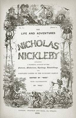 Novel Photograph - Nicholas Nickleby by British Library