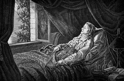 Deathbed Photograph - Nicholo Paganini by Bildagentur-online/tschanz