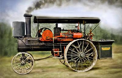 Nichols And Shepard Steam Traction Engine Art Print by F Leblanc