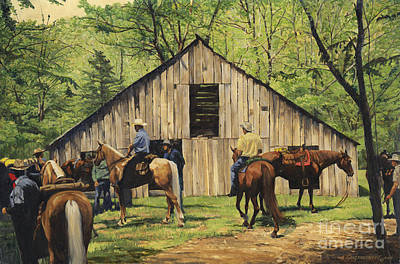 Missouri Painting - Nichol's Barn by Don  Langeneckert
