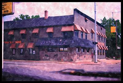 Painting - Nick Finks Bar And Grill  by Rosemarie E Seppala
