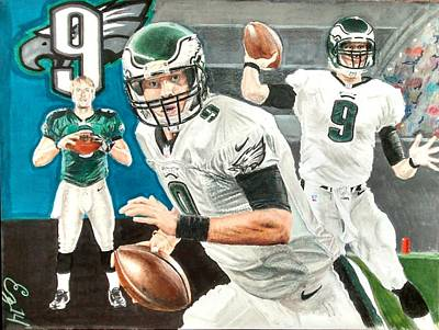 Nick Foles Original by Ezra Strayer
