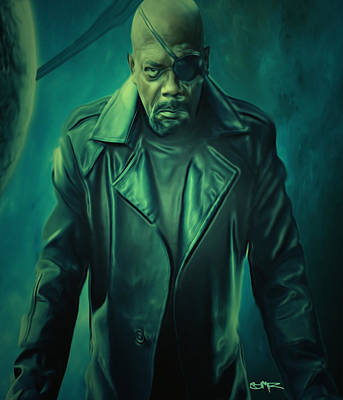 The Universe Painting - Nick Fury by Brian Reaves