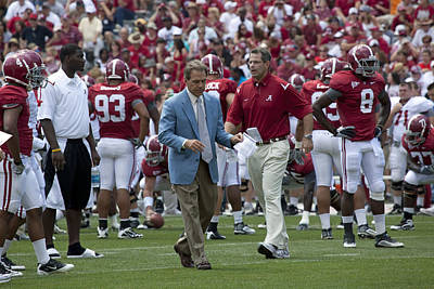 Tuscaloosa Photograph - Nick Saban And The Tide by Mountain Dreams
