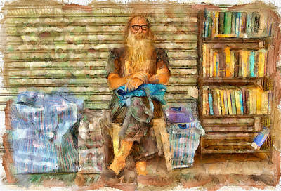 Digital Art - Nick The Booker At Lamma Island by Yury Malkov