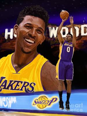 La Lakers Painting - Nick Young  by Jeremy Nash