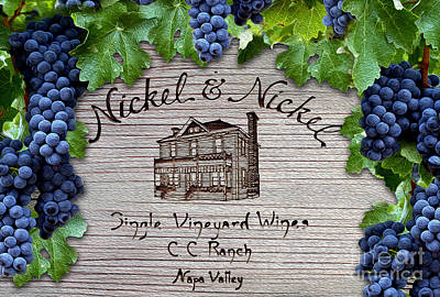 Wine Grapes Photograph - Nickel And Nickel Winery by Jon Neidert