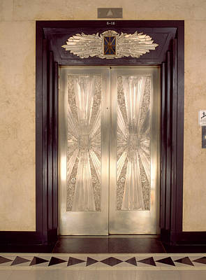 Metalwork Photograph - Nickel Metalwork Art Deco Elevator by Panoramic Images
