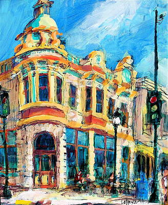 Painting - Nickell On Main by Les Leffingwell