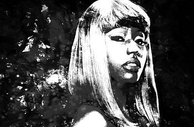 Big Pun Painting - Nicki Minaj 4x by Brian Reaves