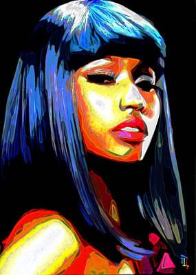 Shoulder Digital Art - Nicki Minaj by  Fli Art