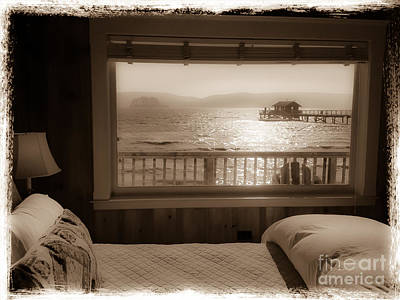 Dreamy Waterfront Cottage Art Print by Amy Fearn