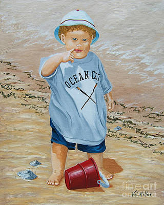 Painting - Nicks Red Bucket by Val Miller
