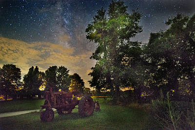 Nick's Tractor And The Milky Way Original by William Fields