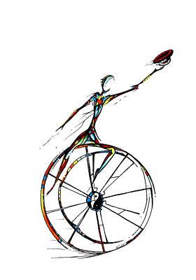 Drawing - Nick's Wheel  by Karen  Renee