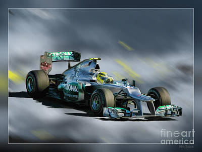 Photograph - Nico Rosberg Mercedes Benz by Blake Richards