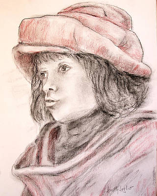 Drawing - Nicolaas Rubens Wearing A Red Felt Cap Drawing by Loretta Luglio
