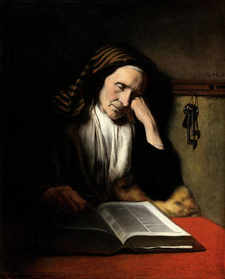Nicolaes Maes Dutch, 1634 - 1693, An Old Woman Dozing Art Print by Quint Lox