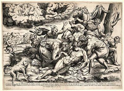 Nicolas Béatrizet French, Born 1507 Or 1515 Art Print