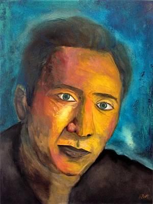 Nicolas Cage Painting - Nicolas Cage by Eliane Ellie
