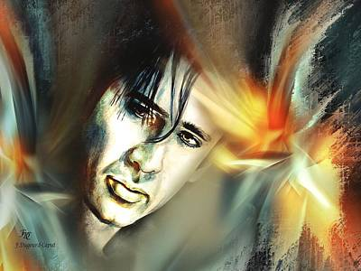 Abstract Digital Painting - Nicolas by Francoise Dugourd-Caput