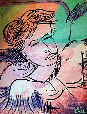 Girl With Peaches Painting - Nicole Gullata I Love You by Feile Case