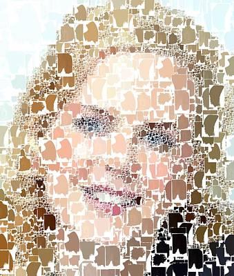 Painting - Nicole Kidman - Abstarct by Samuel Majcen